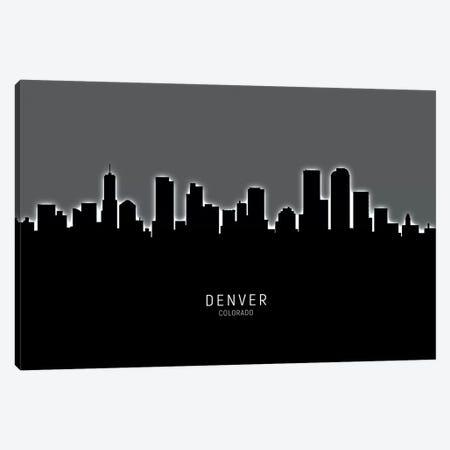 Denver Colorado Skyline Canvas Print #MTO1844} by Michael Tompsett Canvas Print