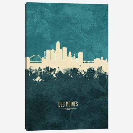 Des Moines Iowa Skyline Canvas Print #MTO1846} by Michael Tompsett Canvas Print