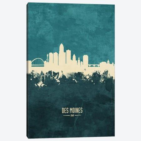 Des Moines Iowa Skyline Canvas Print #MTO1846} by Michael Tompsett Canvas Print