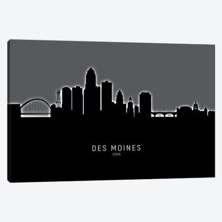 Des Moines Iowa Skyline Canvas Print #MTO1848} by Michael Tompsett Canvas Wall Art