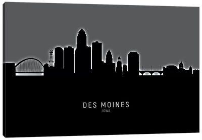 Des Moines Iowa Skyline Canvas Art Print