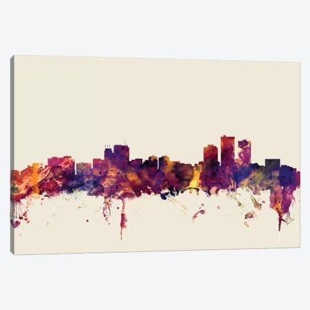 Anchorage, Alaska, USA On Beige Canvas Print #MTO184} by Michael Tompsett Canvas Print
