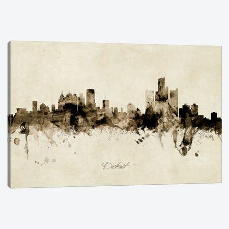 Detroit Michigan Skyline Canvas Print #MTO1851} by Michael Tompsett Canvas Print