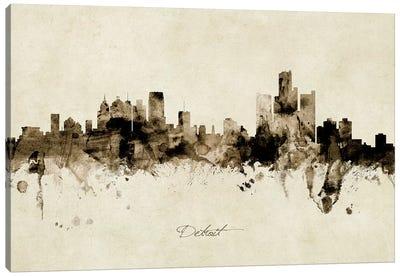 Detroit Michigan Skyline Canvas Art Print