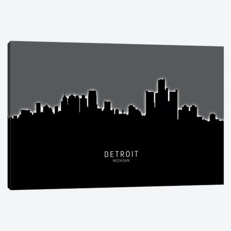 Detroit Michigan Skyline Canvas Print #MTO1852} by Michael Tompsett Art Print