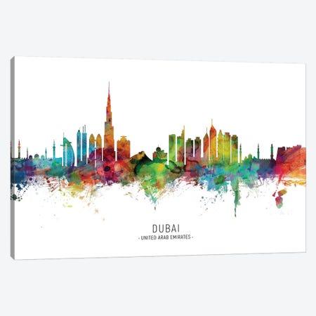 Dubai Skyline Canvas Print #MTO1853} by Michael Tompsett Art Print