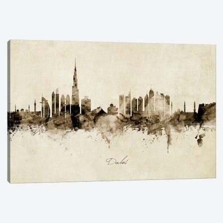 Dubai Skyline Canvas Print #MTO1854} by Michael Tompsett Canvas Artwork