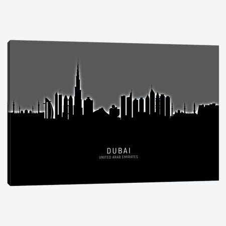 Dubai Skyline Canvas Print #MTO1855} by Michael Tompsett Canvas Art