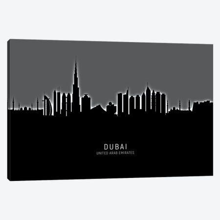 Dubai Skyline Canvas Print #MTO1855} by Michael Tompsett Canvas Art