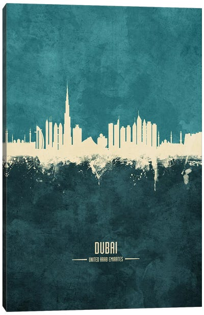 Dubai UAE Skyline Canvas Art Print
