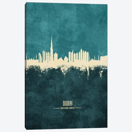 Dubai UAE Skyline Canvas Print #MTO1856} by Michael Tompsett Canvas Artwork