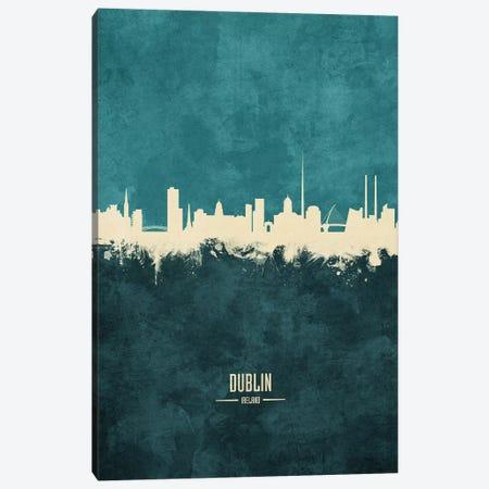 Dublin Ireland Skyline Canvas Print #MTO1857} by Michael Tompsett Canvas Wall Art