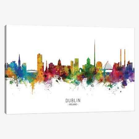 Dublin Ireland Skyline Canvas Print #MTO1858} by Michael Tompsett Canvas Print