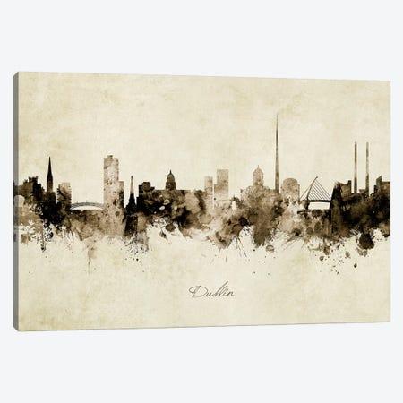 Dublin Ireland Skyline 3-Piece Canvas #MTO1859} by Michael Tompsett Art Print