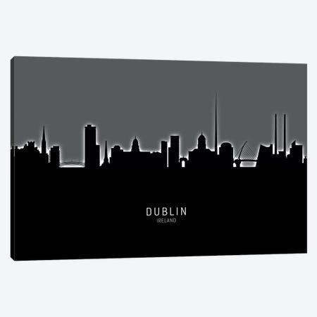 Dublin Ireland Skyline Canvas Print #MTO1860} by Michael Tompsett Canvas Wall Art