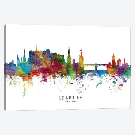 Edinburgh Scotland Skyline Canvas Print #MTO1861} by Michael Tompsett Canvas Artwork