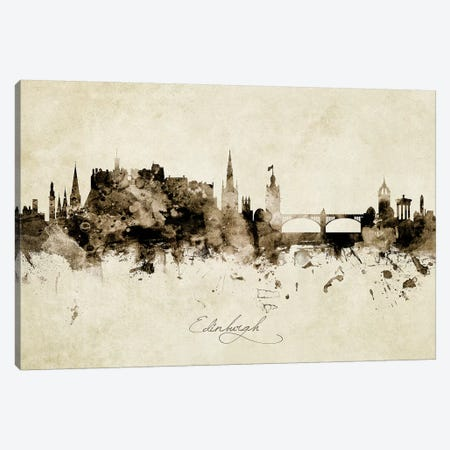 Edinburgh Scotland Skyline Canvas Print #MTO1862} by Michael Tompsett Canvas Artwork