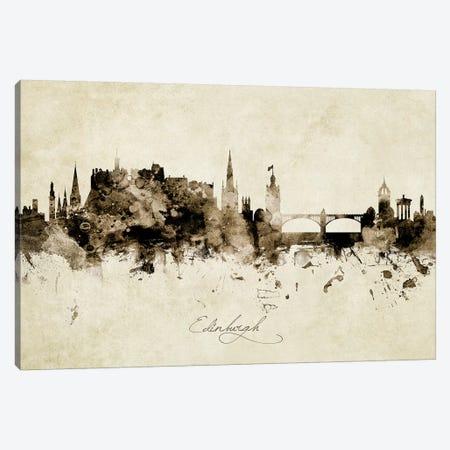 Edinburgh Scotland Skyline Canvas Print #MTO1862} by Michael Tompsett Canvas Artwork