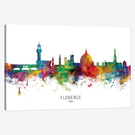 Florence Italy Skyline Canvas Print #MTO1865} by Michael Tompsett Canvas Art Print