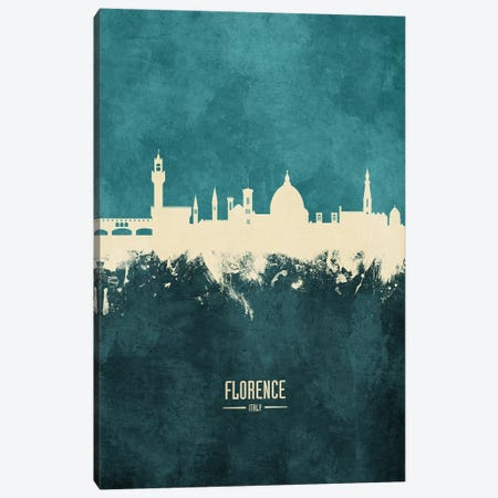 Florence Italy Skyline Canvas Print #MTO1866} by Michael Tompsett Art Print