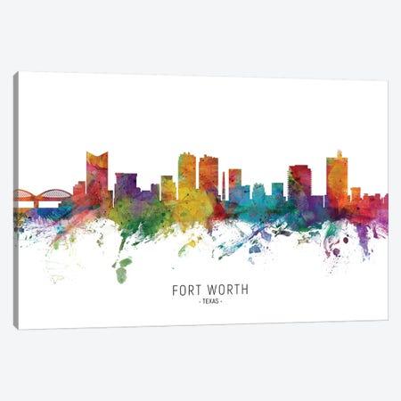Fort Worth Texas Skyline Canvas Print #MTO1869} by Michael Tompsett Canvas Wall Art