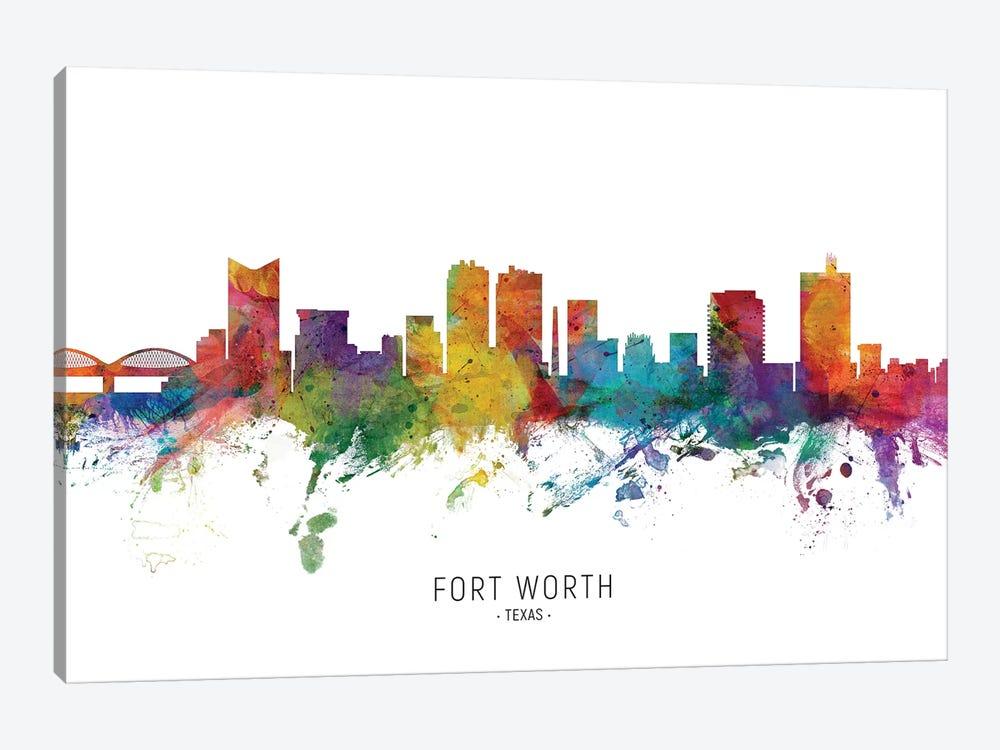 Fort Worth Texas Skyline by Michael Tompsett 1-piece Canvas Art Print
