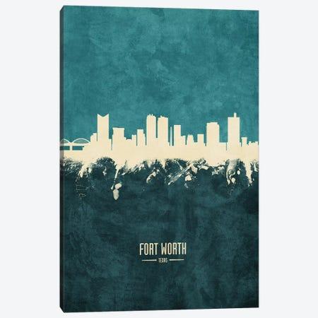 Fort Worth Texas Skyline Canvas Print #MTO1870} by Michael Tompsett Art Print