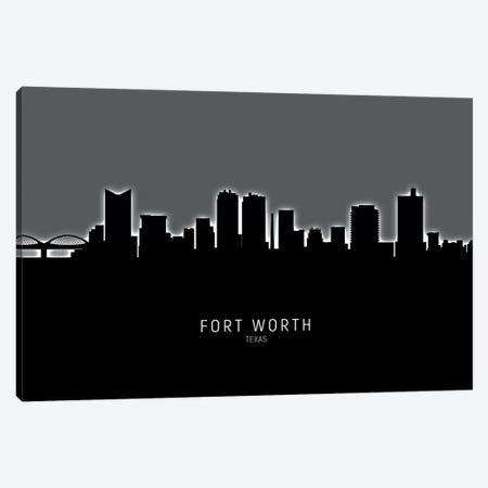 Fort Worth Texas Skyline Canvas Print #MTO1872} by Michael Tompsett Canvas Print