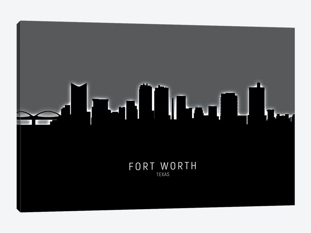 Fort Worth Texas Skyline by Michael Tompsett 1-piece Art Print