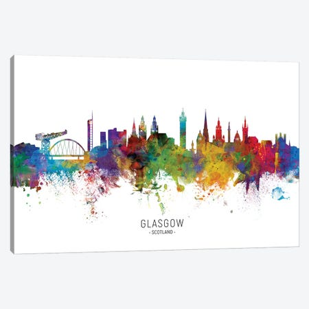 Glasgow Scotland Skyline Canvas Print #MTO1873} by Michael Tompsett Canvas Art Print