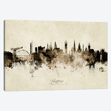 Glasgow Scotland Skyline Canvas Print #MTO1874} by Michael Tompsett Canvas Wall Art