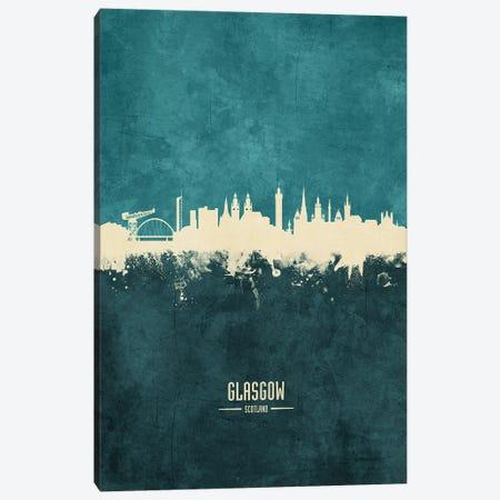 Glasgow Scotland Skyline Canvas Print #MTO1876} by Michael Tompsett Canvas Art