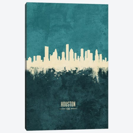 Houston Texas Skyline Canvas Print #MTO1877} by Michael Tompsett Canvas Artwork