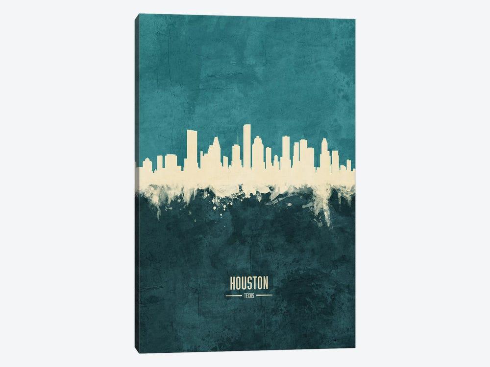 Houston Texas Skyline by Michael Tompsett 1-piece Canvas Art