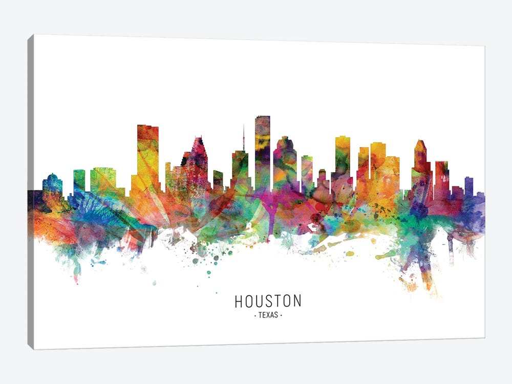 Houston Texas Skyline by Michael Tompsett 1-piece Canvas Print