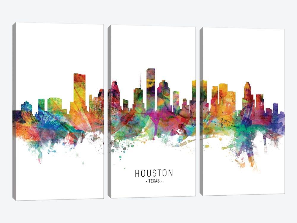 Houston Texas Skyline by Michael Tompsett 3-piece Art Print