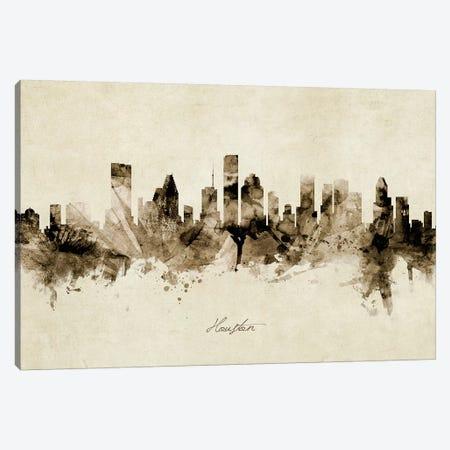 Houston Texas Skyline Canvas Print #MTO1879} by Michael Tompsett Canvas Art Print