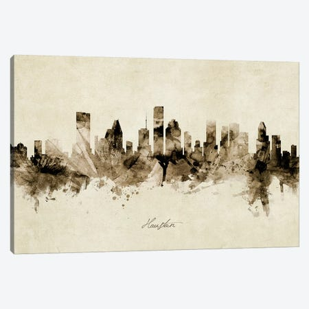 Houston Texas Skyline Canvas Print #MTO1879} by Michael Tompsett Canvas Art Print