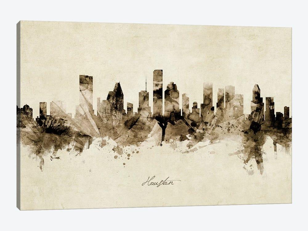 Houston Texas Skyline by Michael Tompsett 1-piece Canvas Wall Art