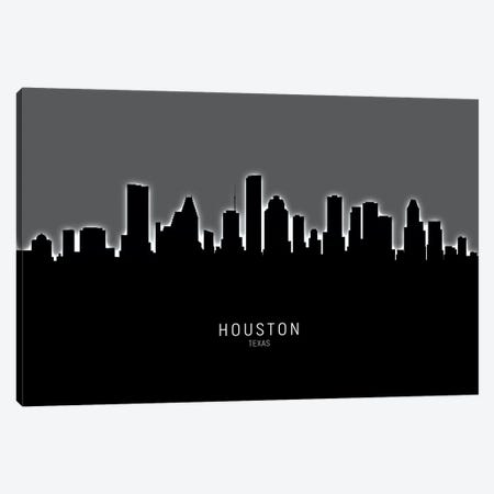 Houston Texas Skyline Canvas Print #MTO1880} by Michael Tompsett Canvas Art
