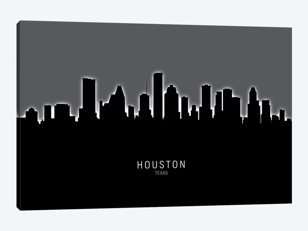 Houston Texas Skyline by Michael Tompsett 1-piece Canvas Artwork