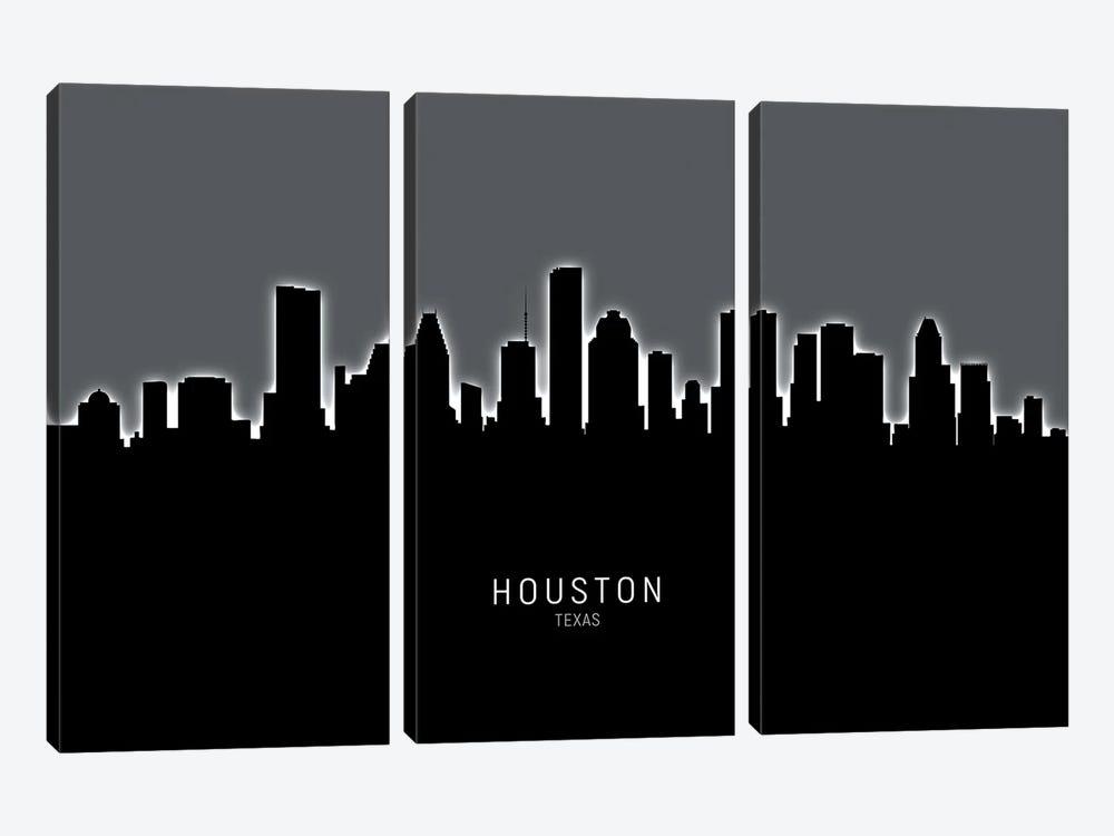 Houston Texas Skyline by Michael Tompsett 3-piece Canvas Artwork