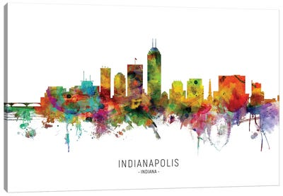 Indianapolis Indiana Skyline Canvas Art Print