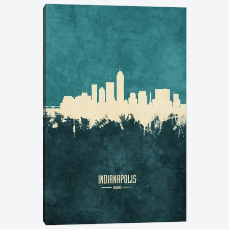 Indianapolis Indiana Skyline Canvas Print #MTO1882} by Michael Tompsett Canvas Wall Art