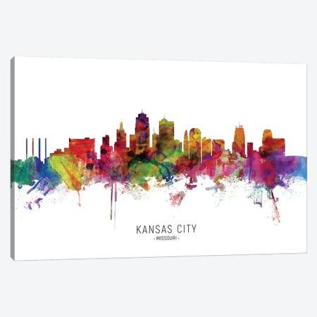 Kansas City Missouri Skyline Canvas Print #MTO1884} by Michael Tompsett Canvas Art Print