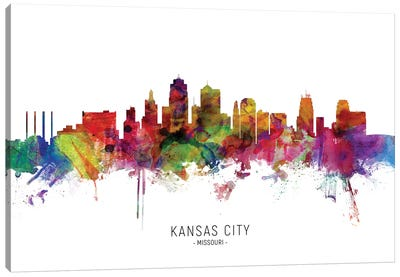 Kansas City Missouri Skyline Canvas Art Print