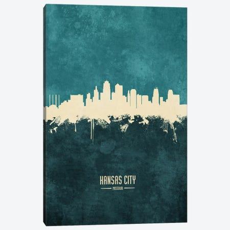 Kansas City Missouri Skyline Canvas Print #MTO1885} by Michael Tompsett Canvas Print