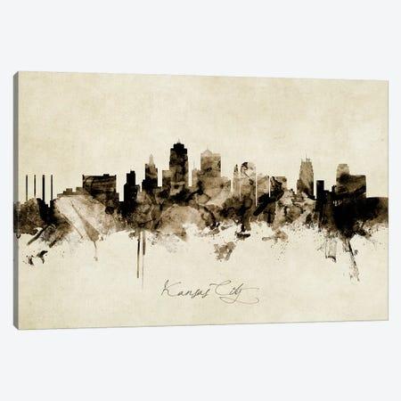 Kansas City Missouri Skyline Canvas Print #MTO1886} by Michael Tompsett Canvas Art Print