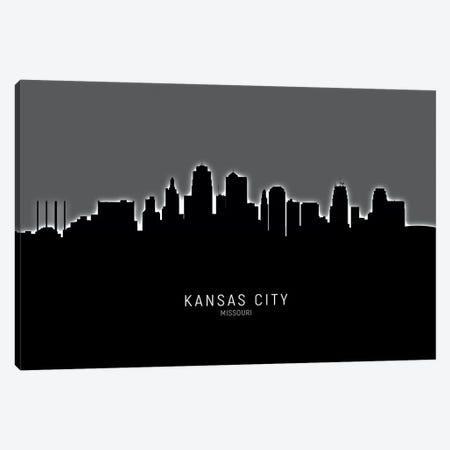 Kansas City Missouri Skyline Canvas Print #MTO1887} by Michael Tompsett Canvas Art Print