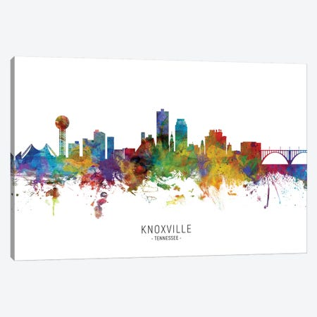 Knoxville Tennessee Skyline Canvas Print #MTO1888} by Michael Tompsett Canvas Art